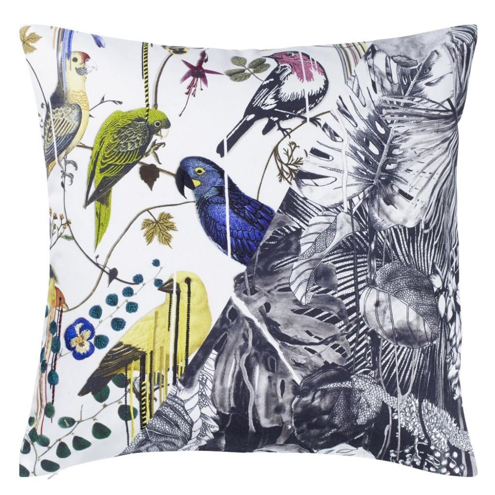 Jungle Birds Perce Neige Decorative Pillow 18 X 18 In Drem Decor
