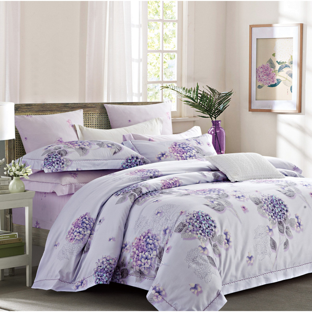 Lavender Hydrangeas Duvet Cover Bedding Set By Rosolf Casual
